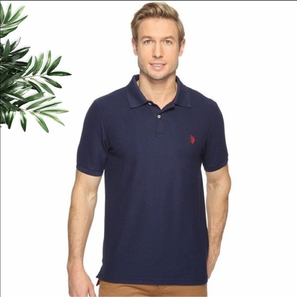 Men's U S Polo Navy Shirt